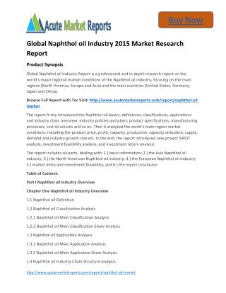 Global Naphthol oil - Industry Share,Size, Trends and Forecasts