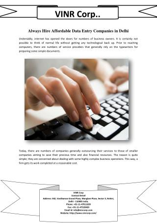 Hire the Dedicated Data Entry Services for Your Business Needs