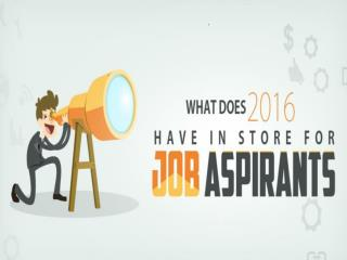 Job Aspiraints 2016 Optimistic Outlook in Money Matters
