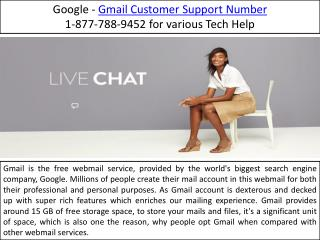 Gmail Customer Support Number |1-877-788-9452|- Email Customer Help