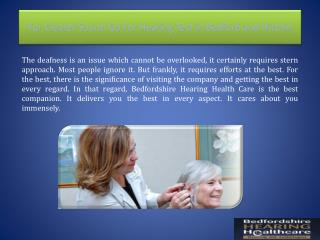 For Clearer Sound Go For Hearing Test in Bedford and Hitchin