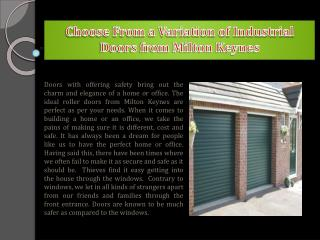 Choose from a Variation of Industrial Doors from Milton Keynes