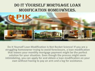 Loan Modification System - It's Good News For Home Owners.