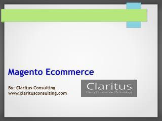 Magento - An eCommerce Platform