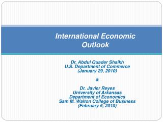 International Economic Outlook