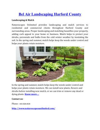 Bel Air Landscaping Harford County