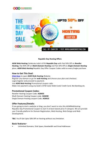 Republic Day Offer - Free Hosting with .COM Domain