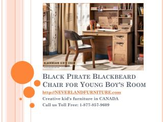 Black Pirate Blackbeard Chair for Young Boys Room