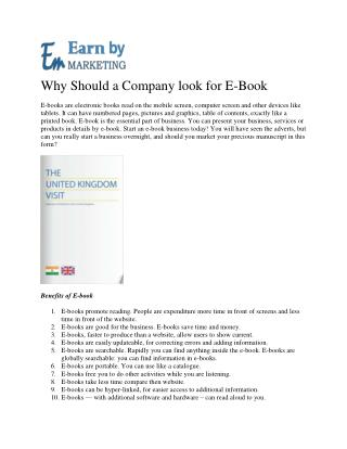 Best Ebook developing and Design Service Company in noida india-EarnbyMarketing.com