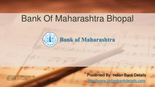 IFSC code for Bank Of Maharashtra Bhopal