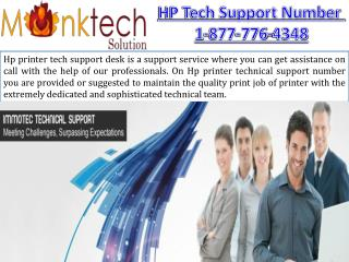 Customer Support For HP Printer 1-877-776-4348