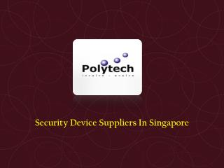 Security Device Suppliers