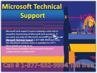 Microsoft Technical Support #!!# 1-877-632-9994 toll free number