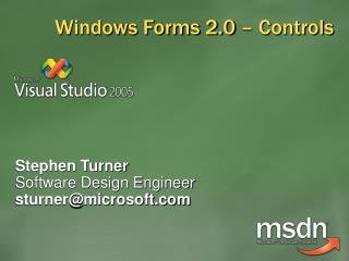Windows Forms 2.0 – Controls