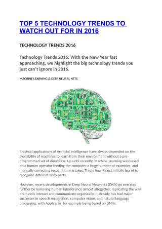 TOP 5 TECHNOLOGY TRENDS TO WATCH OUT FOR IN 2016
