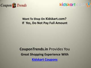 kidskart Coupons: Discount Coupon, Promo Codes, Deals & Offers