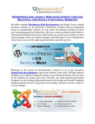 Joomla Web development Creates Beautiful and Highly Functional Websites