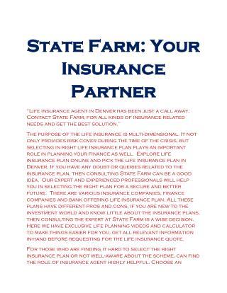 Insurance Quote Denver