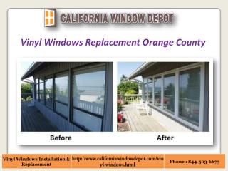Vinyl Replacement Windows in Orange County