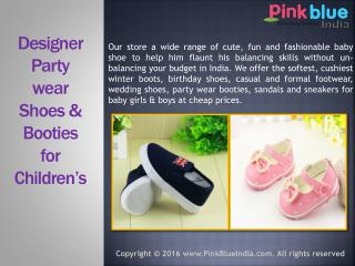 Stylish Designer Wedding Shoes for Children in India