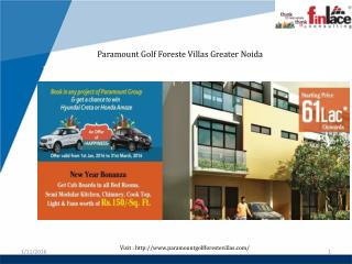 Paramount Golf Foreste Villas @  91 9560090040