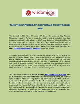 Take The Expertise of Job Portals to Get Walkin Jobs