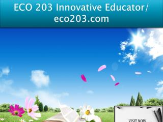 ECO 203 Innovative Educator/ eco203.com
