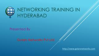 Networking Training in hyderabad