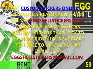 Buy design custom stickers online at Eggshellstickers.com