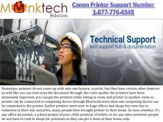 Canon tech Support Number 1-877-776-4348 toll free for Printers