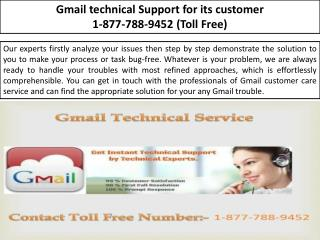 Gmail Support - 1-877-788-9452 Gmail Customer Support Number