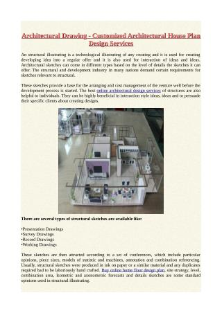 Architectural Drawing - Customized Architectural House Plan Design Services.pdf
