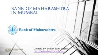 MICR code for Bank Of Maharashtra In Mumbai.