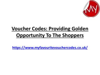 Voucher Codes Providing Golden Opportunity To The Shoppers