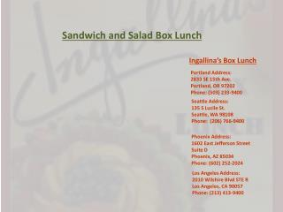 Sandwich and Salad Box Lunch