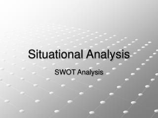 Situational Analysis