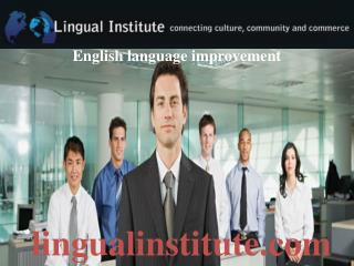 English Language Improvement, Spanish, Portuguese Language Class, Learn to Speak Spanish.