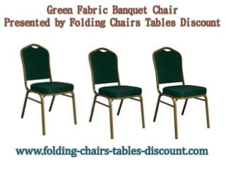 Green Fabric Banquet Chair Presented by Folding Chairs Tables Discount