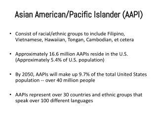Asian American/Pacific Islander
