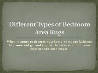 Different Types of Bedroom Area Rugs
