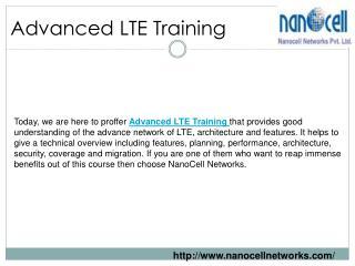 Advanced LTE Training