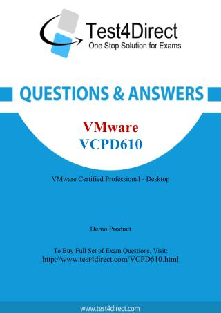 VMware VCPD610 Exam - Updated Questions