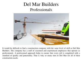 Del Mar Builders Professionals