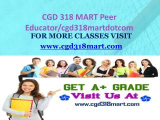CGD 318 MART Peer Educator/cgd318martdotcom