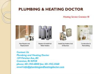 Hot water heater repair Cranston RI