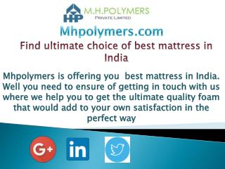 Find ultimate choice of best mattress in India