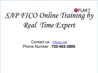 SAP FICO Online Training by Real  Time Expert