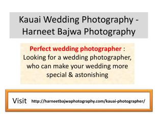 Kauai Wedding Photography - Harneet Bajwa Photography