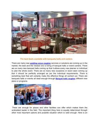 Vaughan banquet hall wedding venues