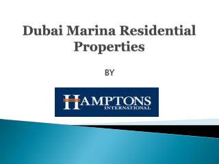 Dubai Marina Apartments for sale | Dubai Marina Residential Properties